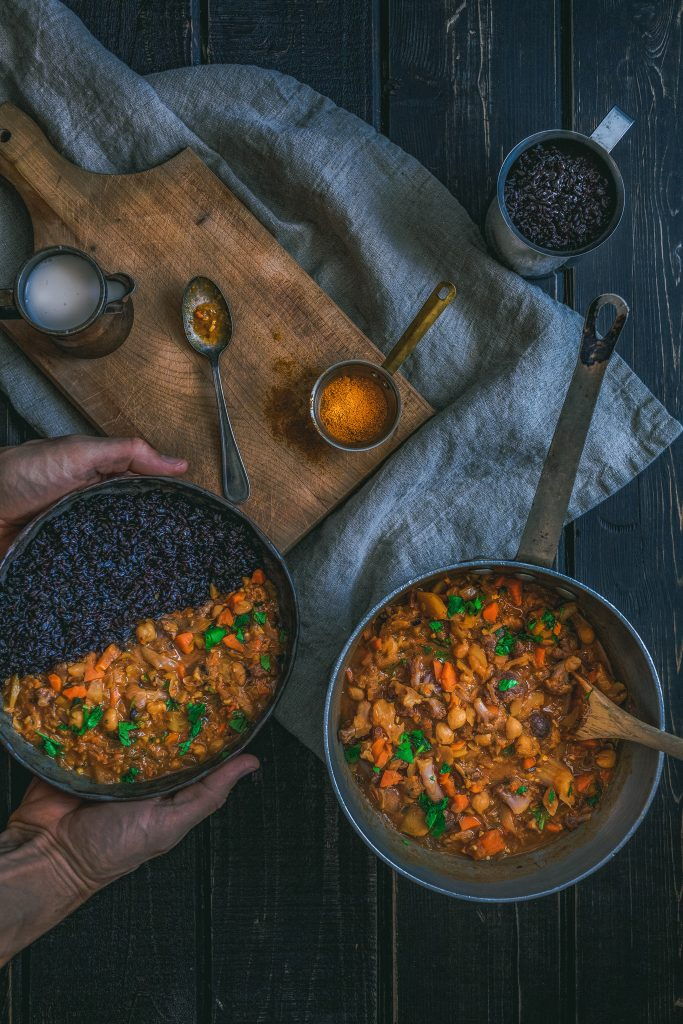 Mixed Bean and Chickpea Soup